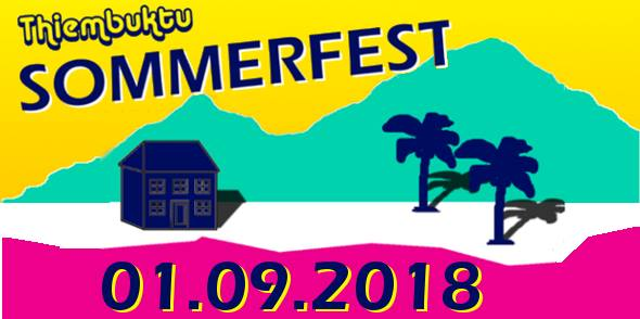 1. 9. Thiembuktu Magdeburg Sommerfest-Poster